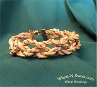 Twisted wheat straw bracelet